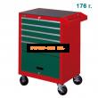 Szerszámkocsi HANS 5 fiókos + 176 részes szerszám készlet