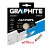 Gyémántvágó GRAPHITE 57H616 115x22mm